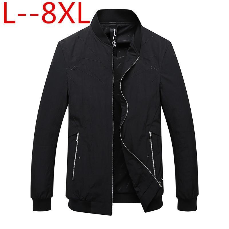Più il formato 10XL 8XL 6XL 5X giacche casual Primavera Inverno cappotto degli uomini sportivo Moto Mens sottile dimagriscono Bomber per Male