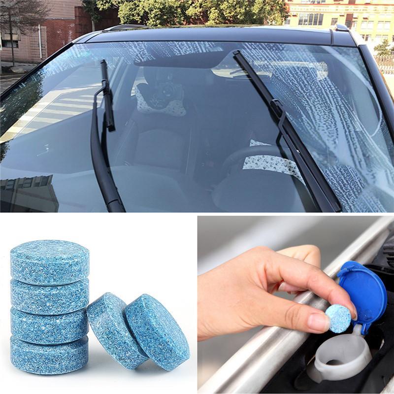 10PCS = 40L 물 자동차 앞 유리 유리 세탁기 청소기 컴팩트 발포성 정제 세제 자동차 미용 도구 자동차 소품
