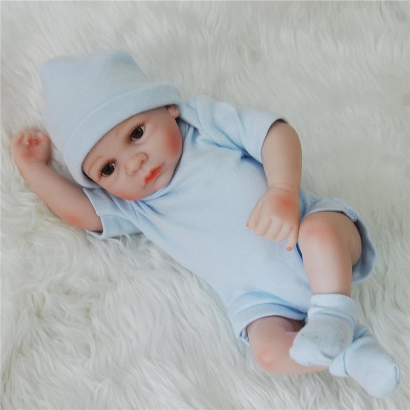 Yeniden Doğmuş Bebek Bebekler Tam Vücut Silikon Bebek Bebek Modeli Oyuncaklar El Yapımı Reborn 25 cm Gerçek Görünümlü Yenidoğan Bebek Bebekler Kız Silikon Model Bebek Oyuncak
