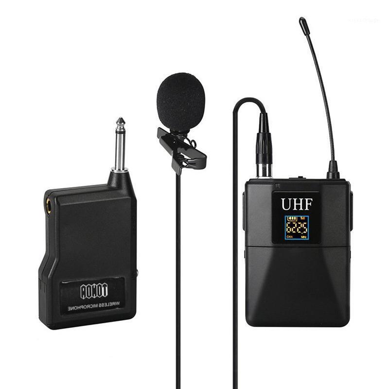 Mikrofonlar UHF Mikrofon Profesyonel Kablosuz Sistem Alıcı + Verici Kamera Recorder1 için