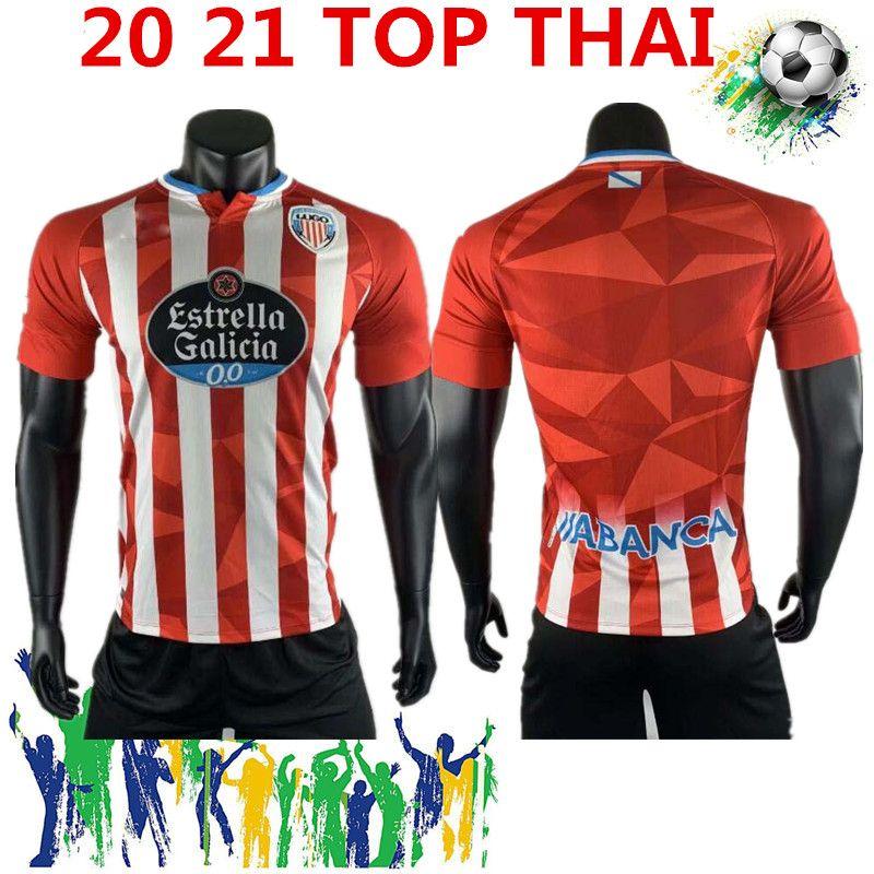 Frete Grátis 2020 2021 CD Lugo Camiseta de Fútbol El Hacen Chris Ramos 16 Home Xavi Torres C.D. Lugo 20 21 de Andalucia Hugo Rama Futebol