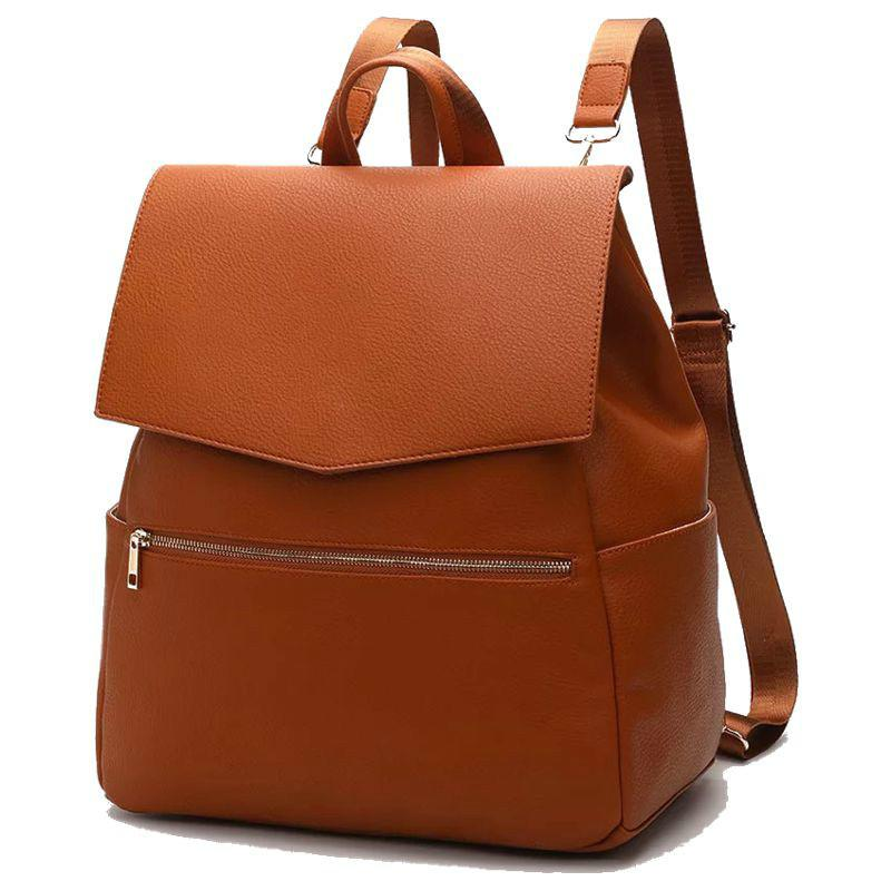 Mama-Windel-Tasche PU-Leder-Baby-Rucksack + Wickelpad + Kinderwagen Riemen Mode Damen Designer Rucksack Q1221