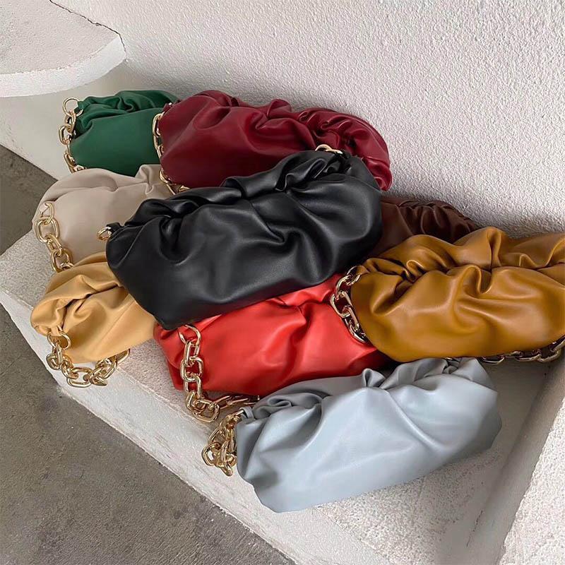 Diseñador de bolsas de hombro de lujo Hobos Bolsas de mujer bolsas de metal Bolso de cadena Alto para mujeres gruesas Calidad Hekwd