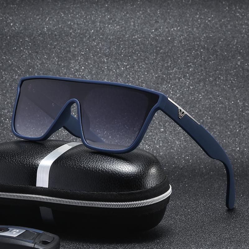 Güneş Gözlüğü Trendy Kare Sunglass Man için 2021 Büyük Lens Çerçeve Tasarımcısı Vintage Retro Degrade Sürüş Gözlük