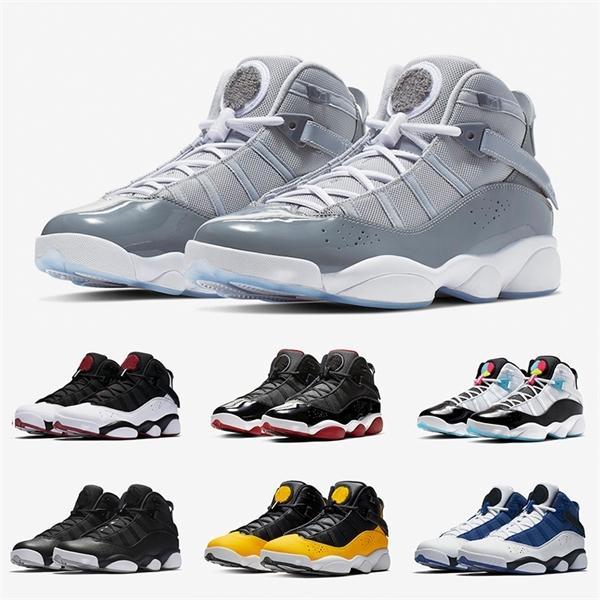 Top 6 6s Six Anneaux Hommes Chaussures de basket-ball Concord Cool Grey Bred Green Ice Gym Red Space Jam femmes hommes baskets de sport authentiques
