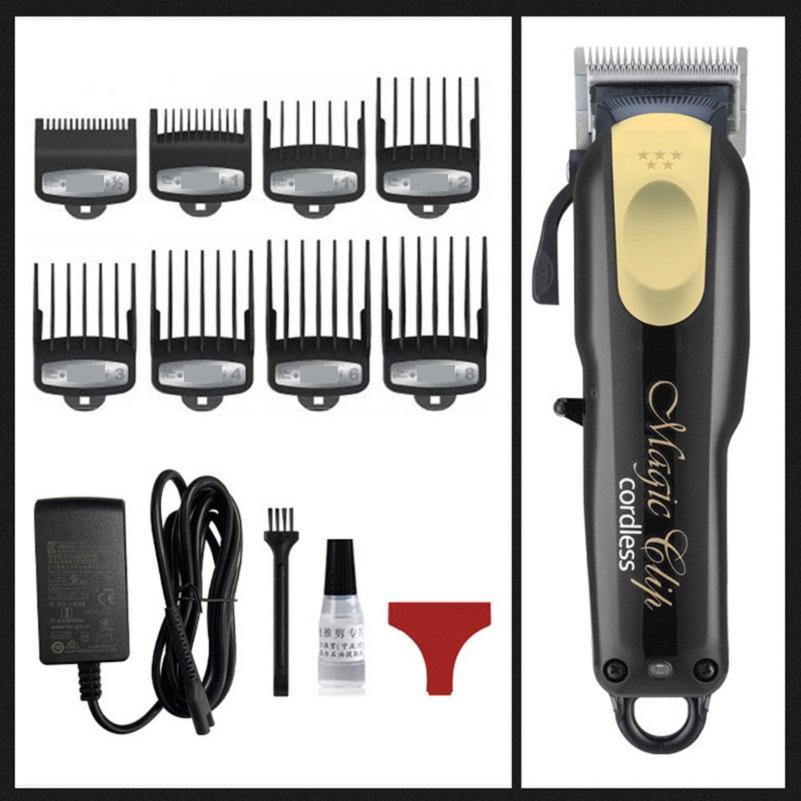 8148 Magia Metal Hair Clipper Eléctrico Razor Homens Cabeça De Cabeça De Saborador De Cabelo Trimmer Gold Vermelho UE UK US Plug