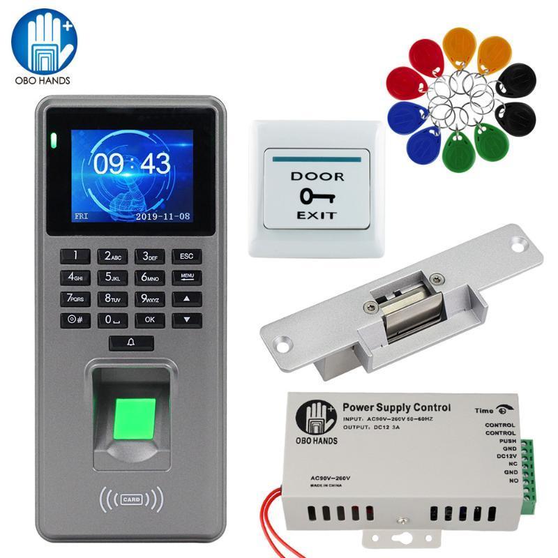Управление доступом отпечатков пальцев DIY System Kit Биометрические RFID клавиатура считывателя + электрический магнитный замок заблокировки блокировки 10 шт. Клавиши