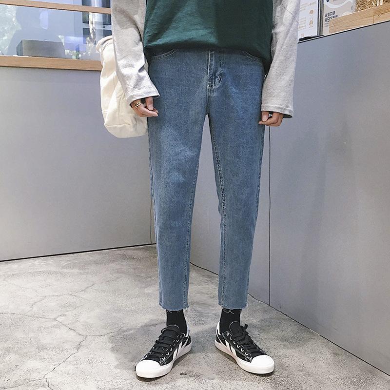 Sommer dünn 2020 Fashion Straße Denimhosen der Männer koreanischen Stil trendy Jeans lose beiläufige Jungen gerade -Kante Pluderhosen