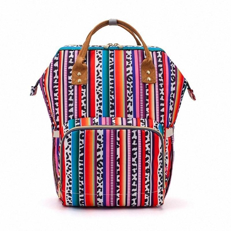 Mode Mama Umstandswickeltasche Marke großen Kapazitäts-Baby-wasserdichte Beutel-Spielraum-Rucksack Pflege für Baby Care DABV #