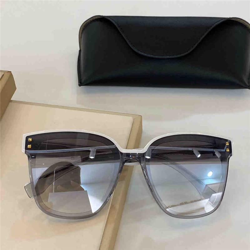 4099 новых унисекс солнцезащитные очки UV-400 анти ультрафиолетовые моды квадратные рамки солнцезащитные очки пластины полная рамка с заклепками очки очки