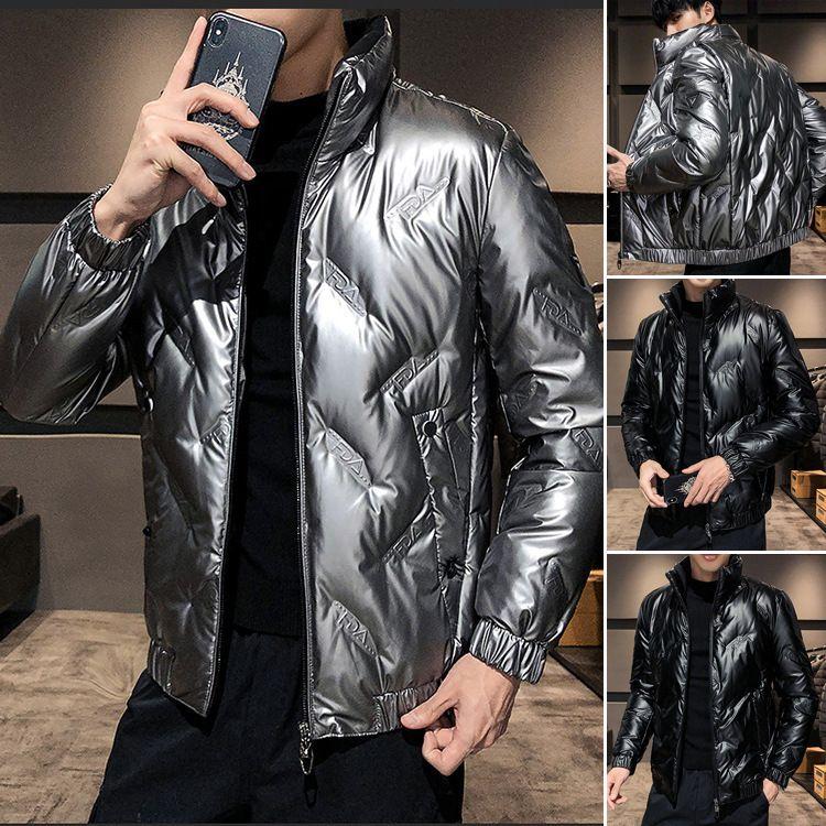 Nouveaux hommes Lisse 2020 Lumière coréenne et loisirs chauds de la mode Blanc Duck Down Winter Coat