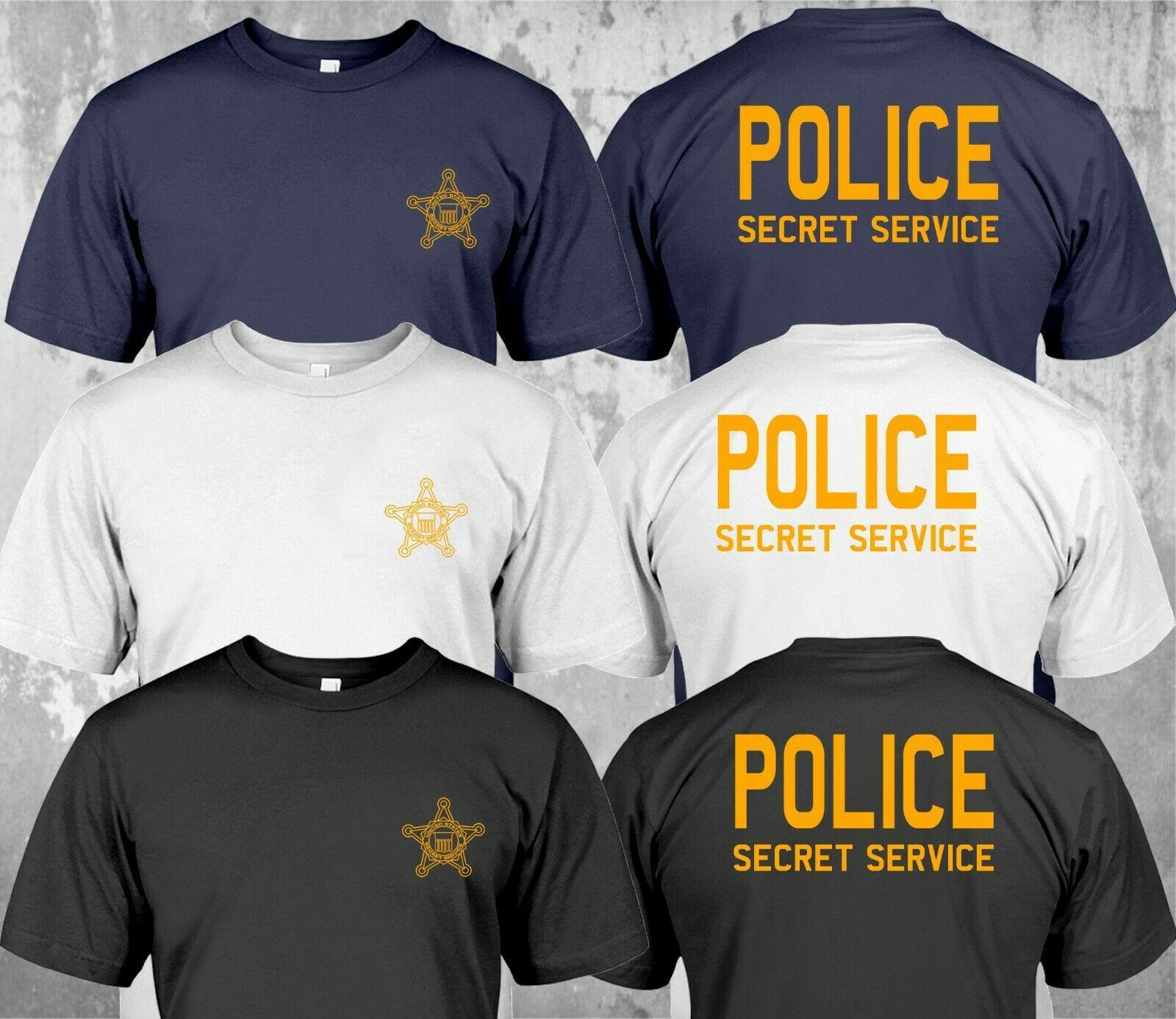 spor Yeni Polis Gizli Servis Amerika Birleşik Devletleri Askeri Özel Kuvvet Özel Tişört Çift Yan 2019 Pamuk Casual Baskılı Tee Tops