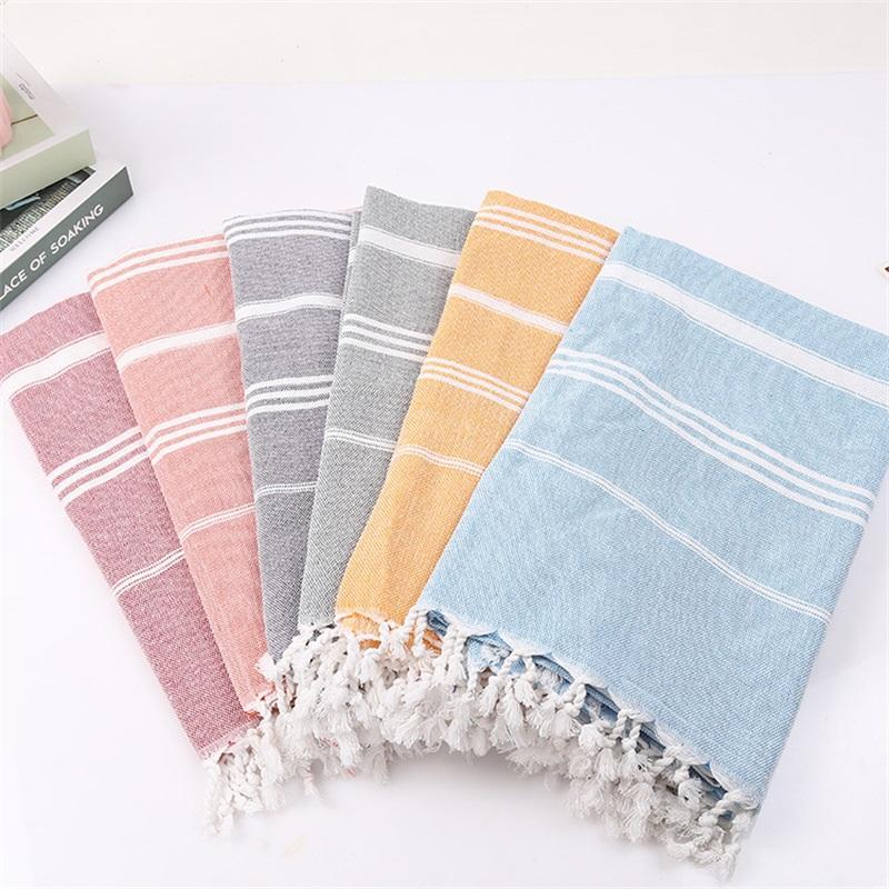 Polyester-Baumwolle türkischen Quasten Handtuch Multi Farben Multipurpose-Schal-Schal-Yoga-Matten Strandtücher Tapestry 28 12sp L2