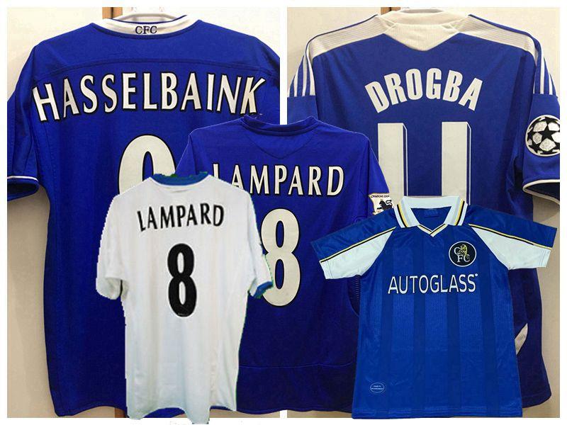 Retro classic 1997 98 1999 2003 04 05 06 2011 12 LAMPARD soccer jerseys TORRES DROGBA HUGHES TERRY IVANOVIC Makelele Essien football shirt