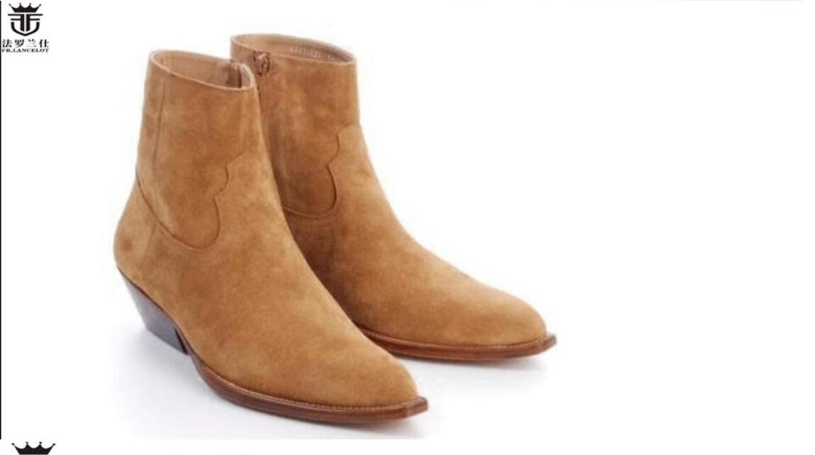 Modische neue Art und Weise Winter Männer kurze Stiefel Stiefel Lederschuhe wies Herren-Stiefel Stiefel Kleid