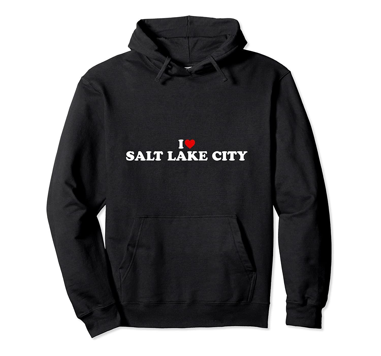 Eu amo Salt Lake City - Coração do pulôver Unissex Tamanho S-5XL com cor preta / cinza / Marinho / Royal Blue / Dark Heather