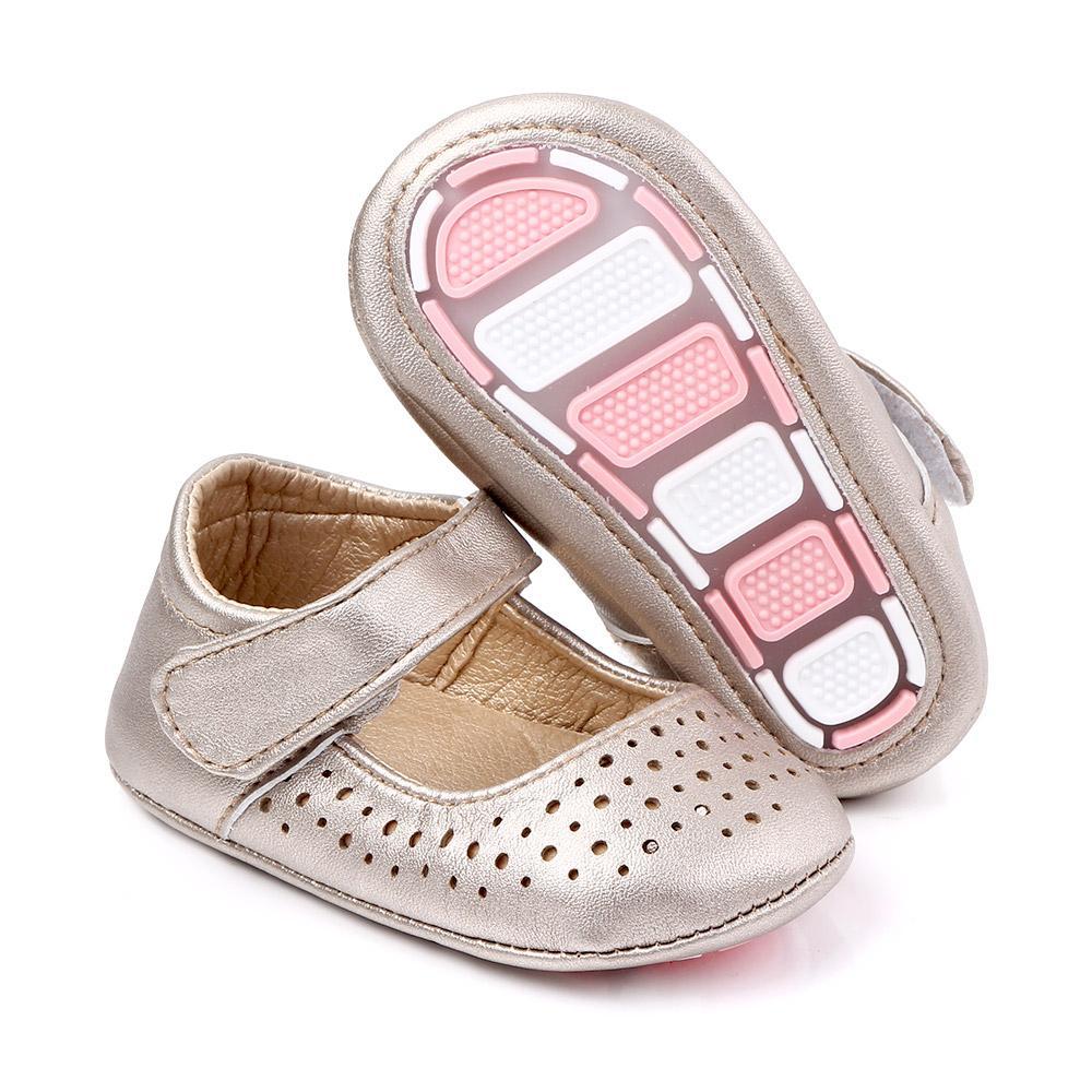 Scarpe da bambino Baby girl neonato neonato morbido in gomma inferiore antiscivolo PU culla mocassini scarpe