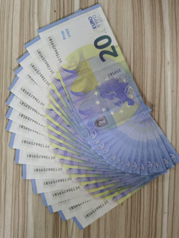2Direct juego más vendido token de imitación euro dollar Sterling falsificación nota juguete antiguo cine y la televisión 20 euros apoyos notas prácticas antiguas 100