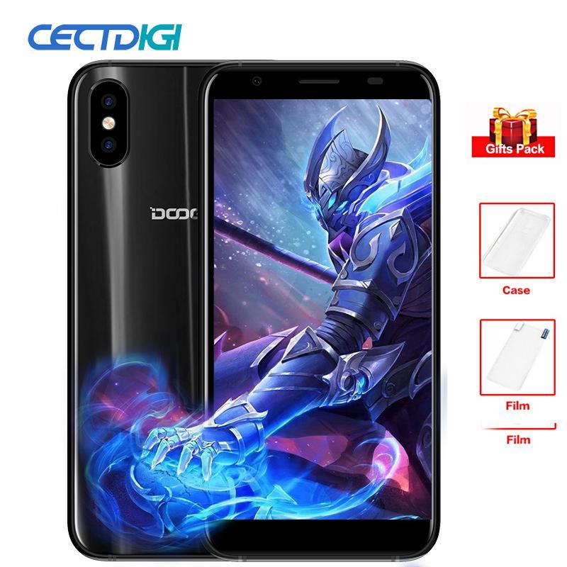 "DOOGEE X55 Smartphone 5.5"" 18:9 Display MT6580 Quad Core 1GB RAM 16GB ROM Android 7.1 Dual Camera Fingerprint cheap mobile Phone"