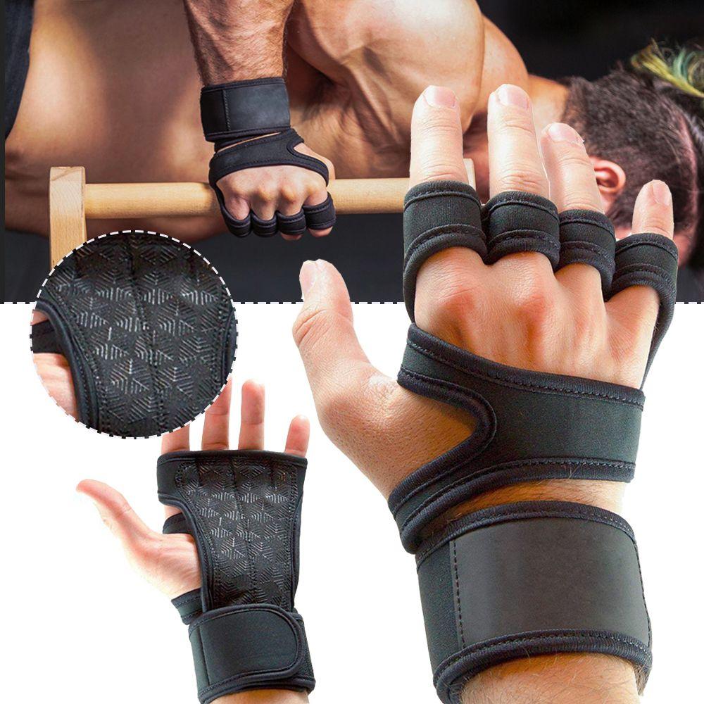 Тренировочные перчатки тяжело поднятие тяжестей палец фитнес спортивное тело здание гимнастика ручки тренажерный зал рука ладонь протектор перчатки износостойкий запястье