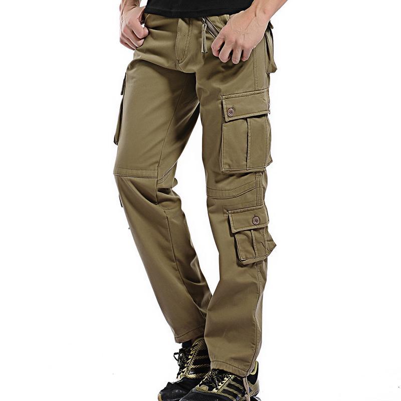2021 Nouveaux cargos d'hiver Épaissir Coton Coton Coton Military Militaire Pantalon Baggy Pantalon chaud Plus Taille 40 4E71