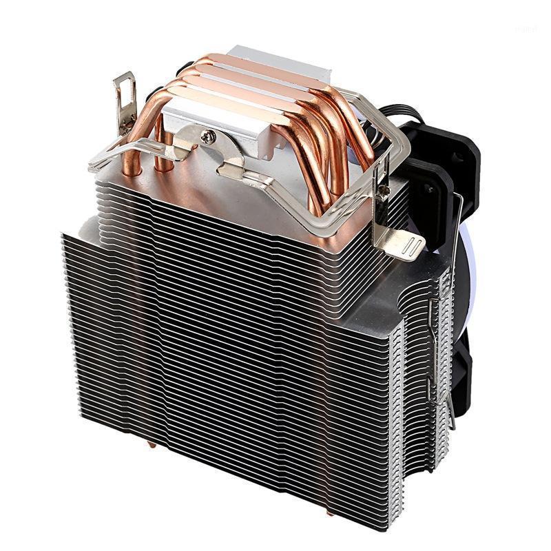FANS COOLINGING 12 CM CPU Refrigerador sem fã 4 tubos de calor de calor para 775/1150/1155/1156/1366 AMD All1