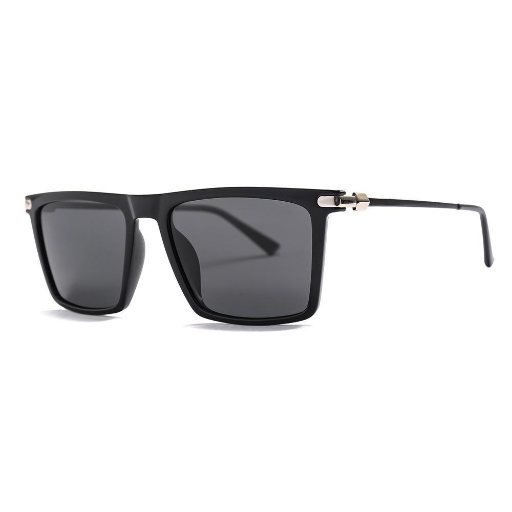 New Square polarisierte Sonnenbrille der Männer 2019 Marken-Entwerfer Weiblich Männlich Metall Klassische Sonnenbrillen Goggle Shades UV400 Gafas