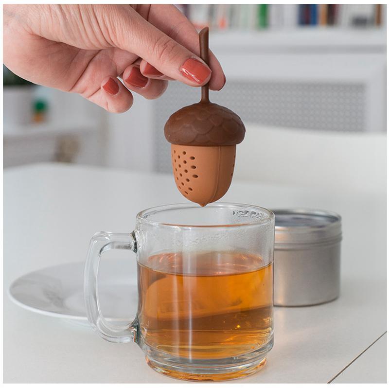 Acorn thé infuseur silicone en forme de gland thé crépines Feuillets Tasse Passoire Coupe Steeper Thé Accessoires