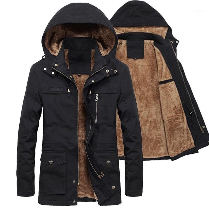 Winbreaker Jacke 2020 Männer Parka Mantel Fleece Müsli Warme Veste Homme Hiver Outwear Hohe Qualität ROUPA Masculina Große Größe1