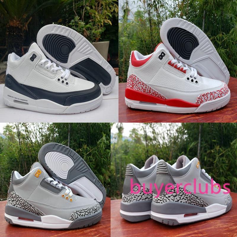 2020 Nouvelle Jumpman 3 3s Cool Gray feu orange rouge Fragment Hommes Chaussures de basket-ball Sports de plein air Chaussures des Chaussures Homme Baskets Zapatos