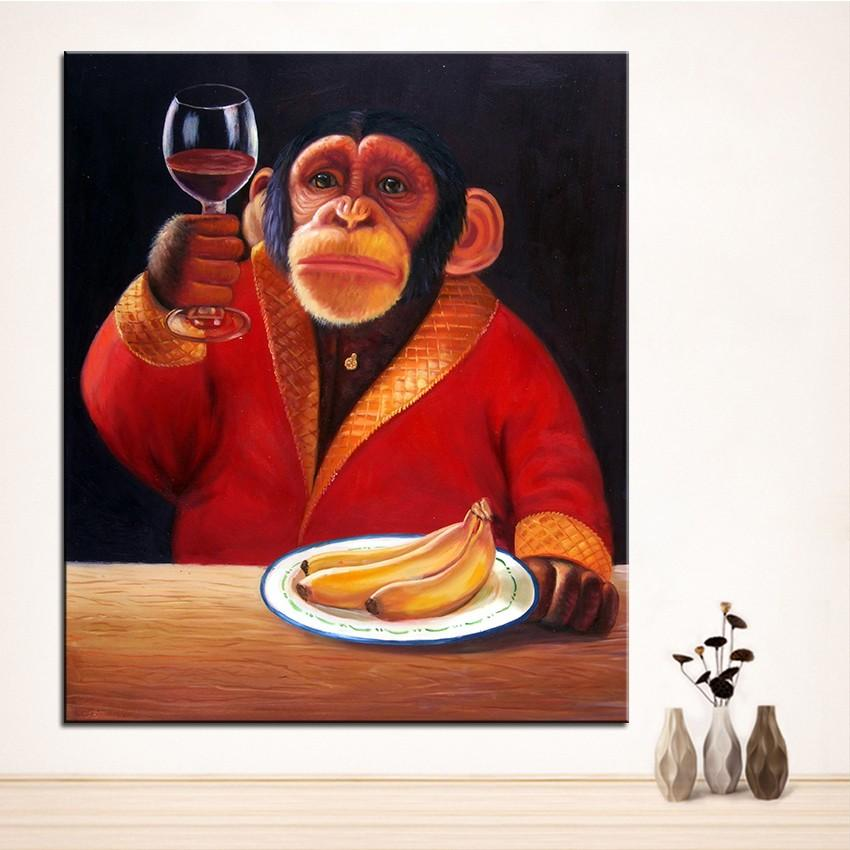 MONKEY Picture For Wall decoration Home Decor Handpainted & HD Print Oil Painting On Canvas Wall Art Canvas Pictures 201008