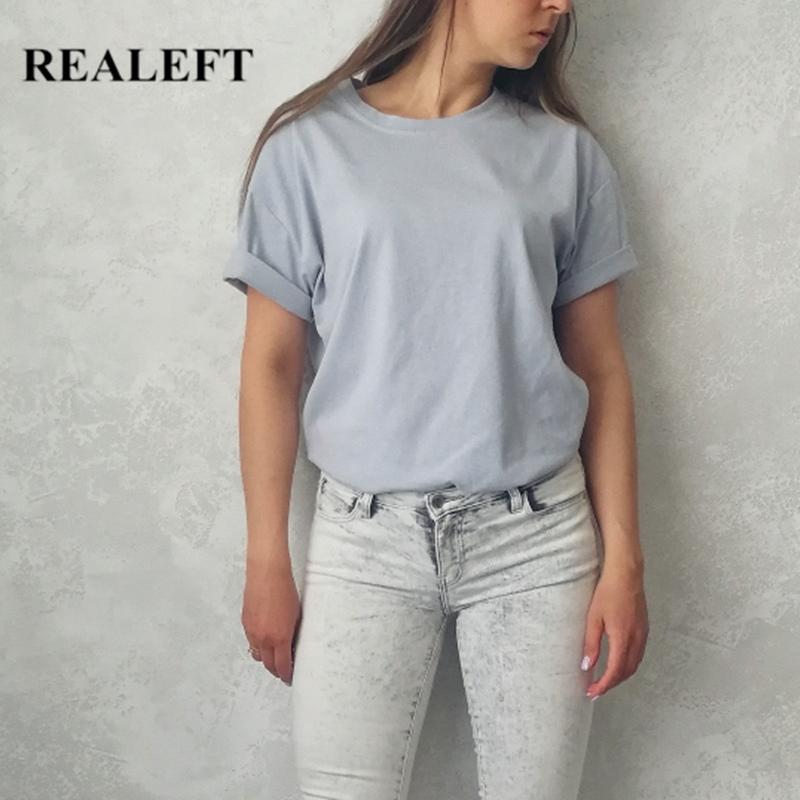 Réplique 2020 Nouveau été Solide manches courtes T-shirts Femmes Simple Multi Color Coton Couleur O-Cou occasionnel Chemises en vrac Tops Tee Dames T200525