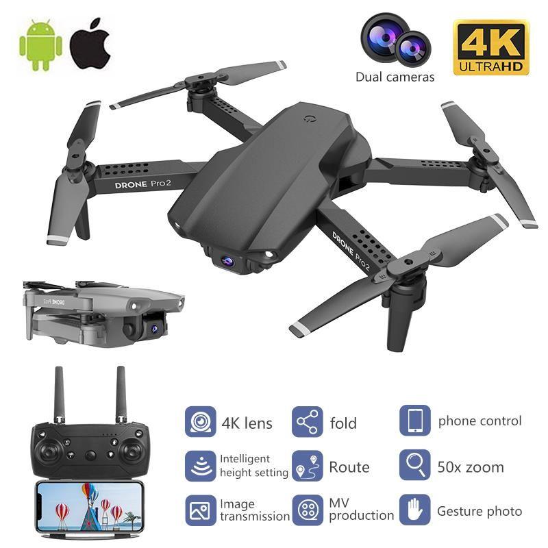 RC Quadrocopt Drohne UAV mit 4K HD Professional Camera Echtzeit hochwertige vier-Achs-WiFi-Fernbedienung DRON QUADCOPTER-Spielzeug