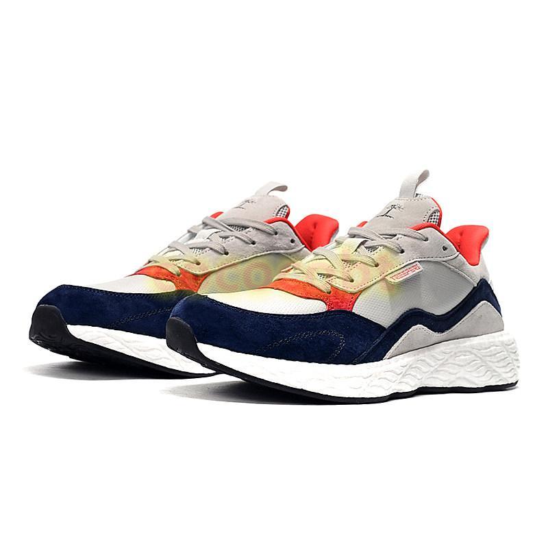 Hot Treeperi Basf Runner V2 Hommes Femmes Running Chaussures Gris Navy Sneakers Formateurs de la mode US 5,5 EUR 36 pour les femmes