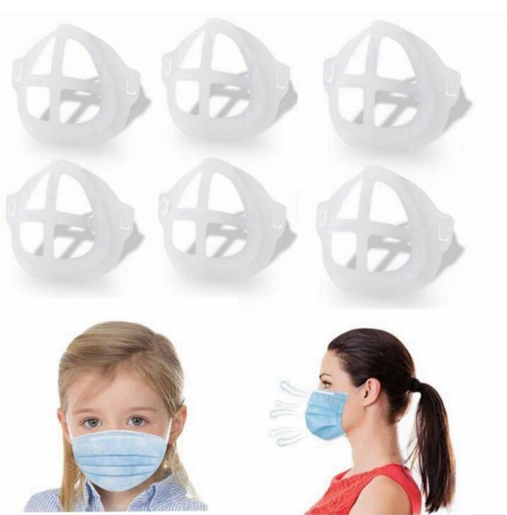 Masque de visage 3D adulte anti-poussière anti-poussière adultes Supports de support de rouge à lèvres cadre de masque de masque de masque à lèvres accessoires de protection LSK1812