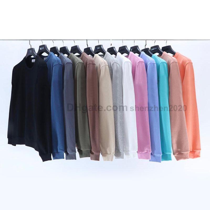 Marka sonbahar kış uzun kollu hoodies severler stil yuvarlak boyun t gömlek hoodie nakış kol bandı simgesi gerekli # ut604 erkek kazak