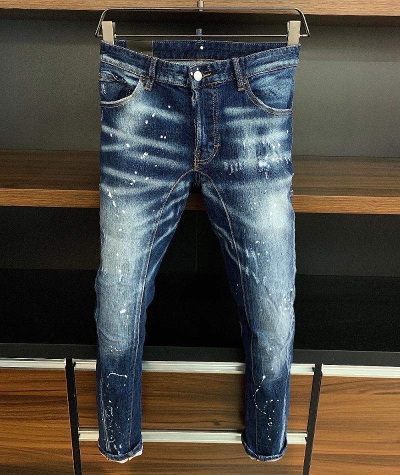 2020 Runway stile partito Europeo di Design di moda maschile THK09950 Jeans Abbigliamento Uomo