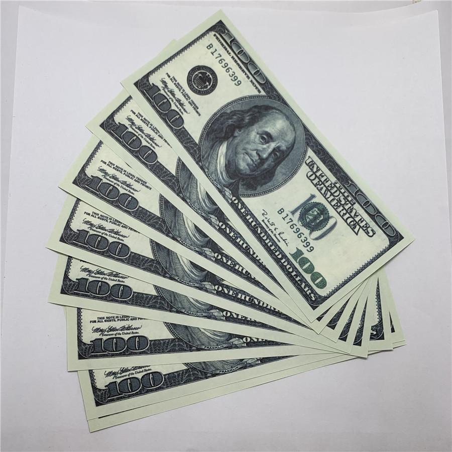 Бар Dollar Banknotes U.s.curkency Rings 100 Съемка Старый O9 Bank Детская кованая игрушка LGNDE Поддельные копии Денежные характеристики WKCFP