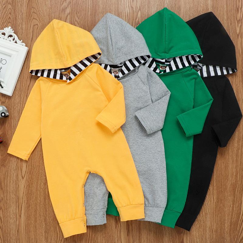 Bambino con cappuccio pagliaccetti dei ragazzi delle tute a strisce lunghe Solid body a manica Pantaloni Moda Tute Boutique vestiti di ascensione M1024