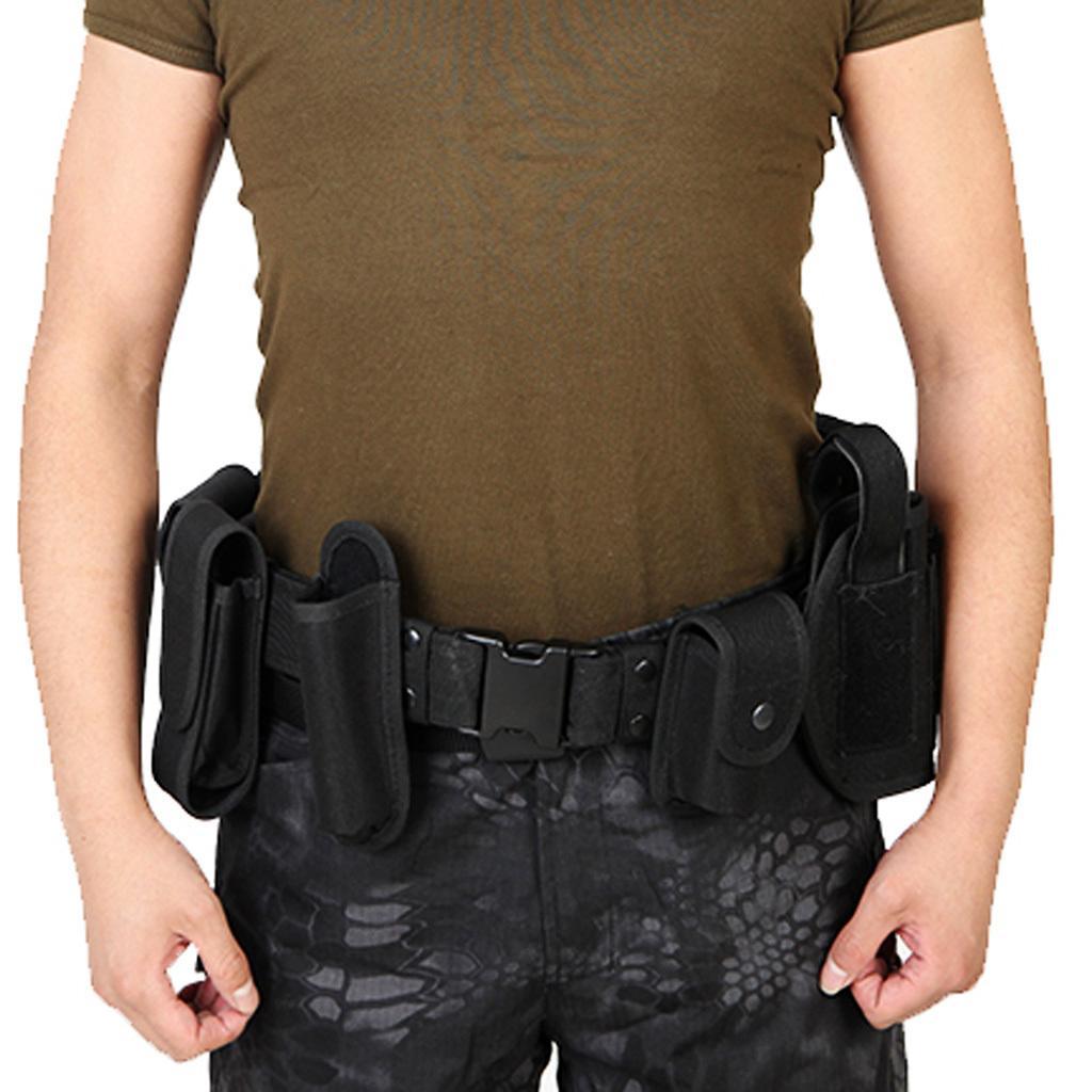 1set utilità militare tattico Cintura Attrezzatura Borsa Security Guard Polizia Radio Holster torcia Pouch