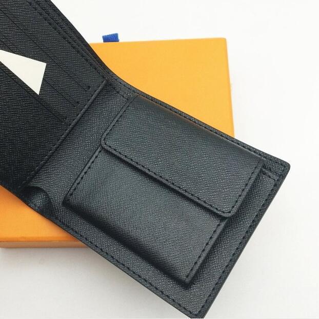 Homens de couro dos homens dos homens 2021 Carteira de moeda Pequenas garras de bolsa de bolsa de bolsa com caixa