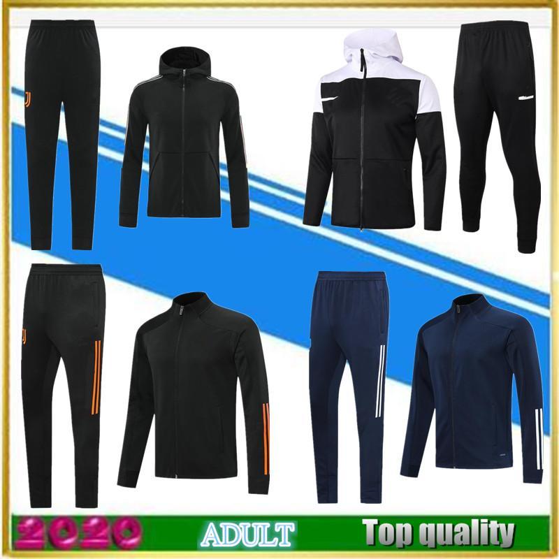 2020 2021 Erwachsene graue Trainingsanzug Rosa Fußball Trainingsanzug Survetement Football Jacke 20 21 Schwarz Vollzip-Jacken Poloshirt