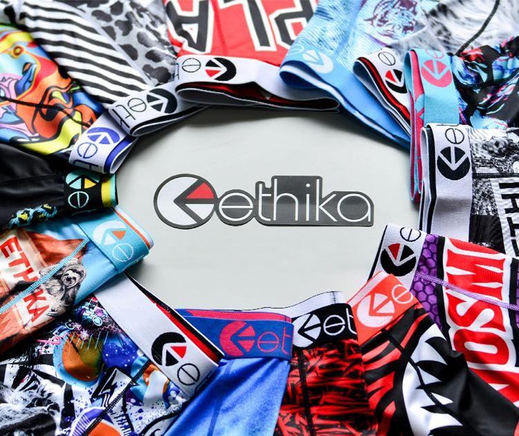 Novos equipamentos de chegada homens Etika Boxers Elastic Homens Underwear Sportswear Fitness Leggings Boxers Briefs 002