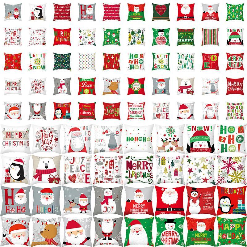 70 نمط إلك سانتا كلوز عيد الميلاد غطاء وسادة ميلاد سعيد عيد الميلاد 2020 هدية عيد الميلاد زينة عيد الميلاد عيد الميلاد كيس المخدة XD24021