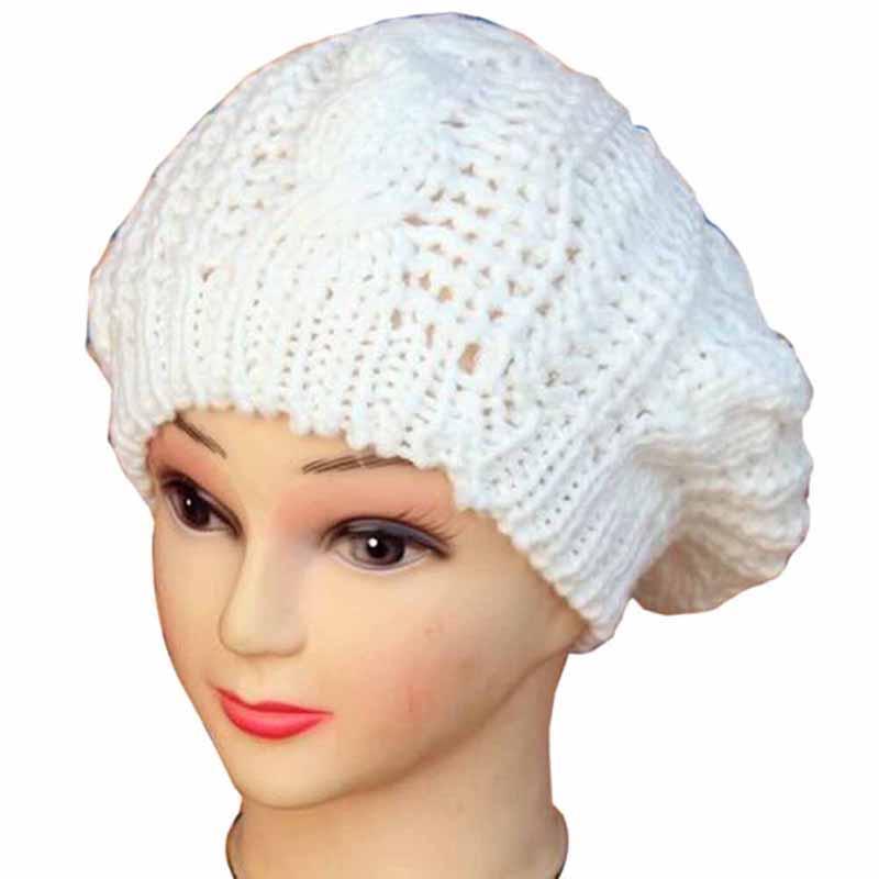 Berety wiosenne zimowe kobiety kapelusze czapki dzianiny czapka szydełkowy kapelusz ucho chronić przypadkowy