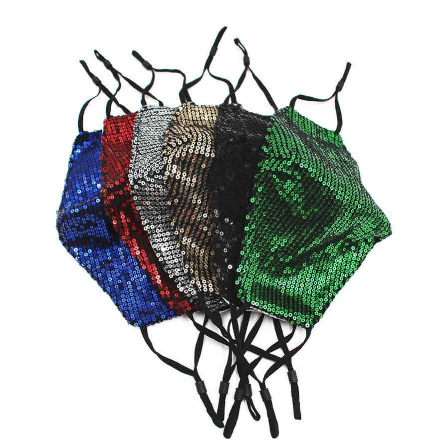 2021 New Face Mask Mask Sequin Bling Bling Maschere per Ragazzi Ragazze Traspirante Antiparticelle Antiparticelle Antiparticelle Apologie Astrica Aspirazioni Uomo Donna Colorful FaceMask