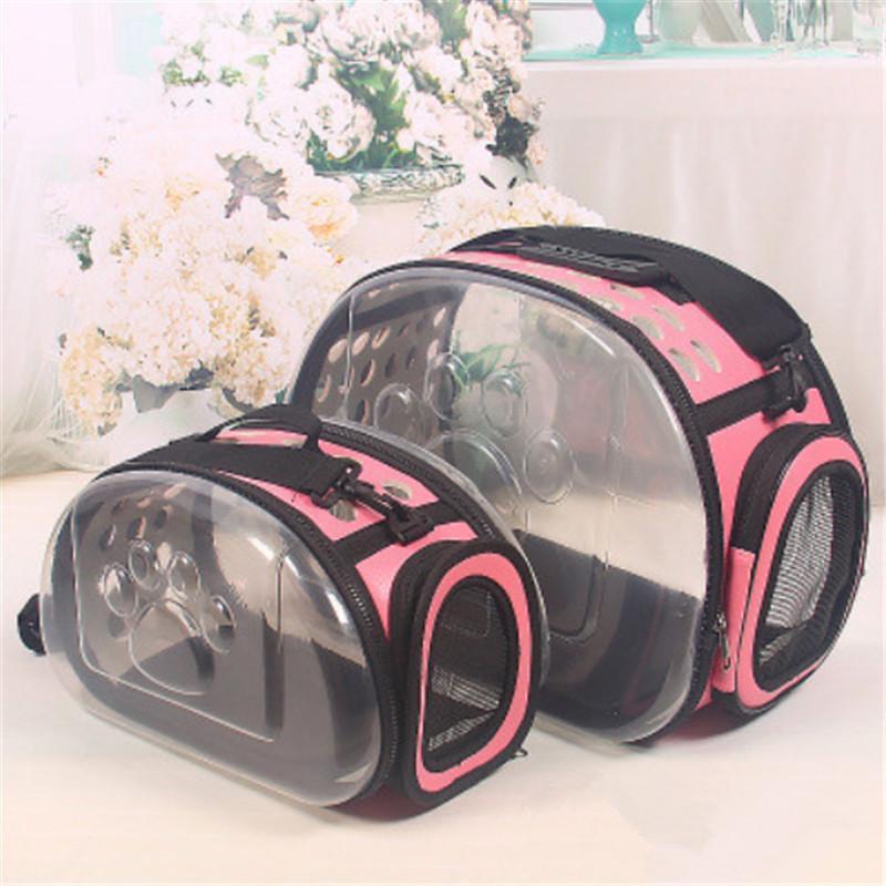 القط الناقل حقيبة القط قفص نقل حقيبة الكلب القط حقيبة السفر الحيوانات الأليفة المحمولة تنفس الناقل شفاف حقيبة الظهر للقطط pet LJ201201