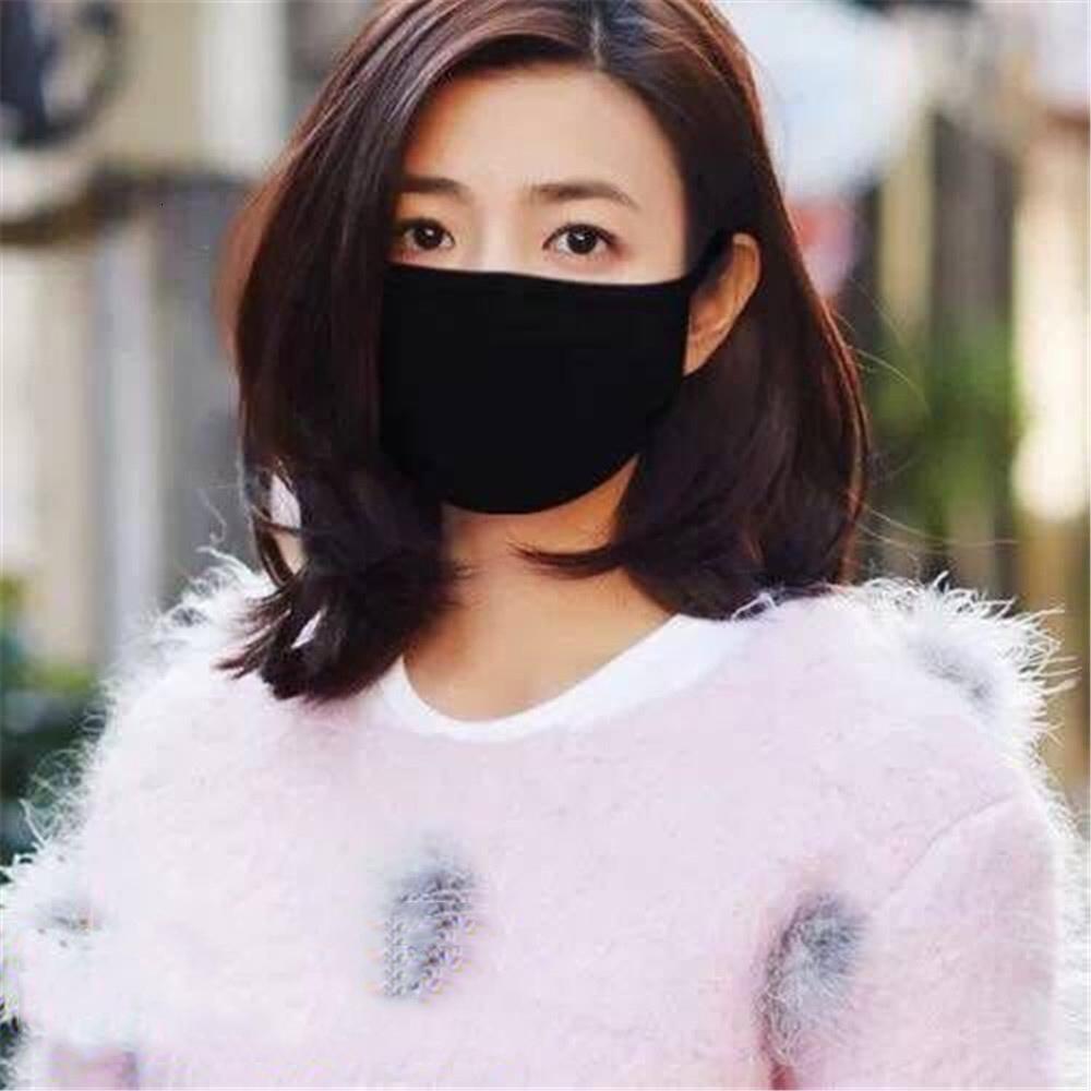 Waschbare Gesichtsmaske Einzelne reine Farbmaske Mundabdeckung PM2.5 Atemschutzmaske staubdichte antibakterielle wiederverwendbare Baumwollmasken