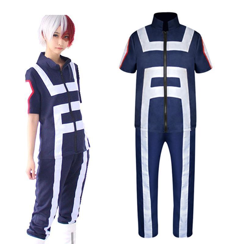 Аниме костюмы мой герой академии boku нет косплей костюм мужские женские школьные однородные тренажеры тренировочный костюм спортивная футболка футболки