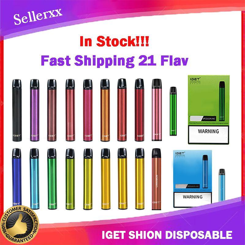Original-Iget-Shion-Einweg-Pod-Gerät-Kit 600 Puff 400mAh 2.4ml Vorgefüllter tragbarer Vape-Stick-Stift-Bar plus XXL max 100% authentisch